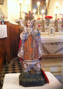 photo statue Enfant Jésus de Prague chapelle su Sacré-Coeur à Canaghja - Campile