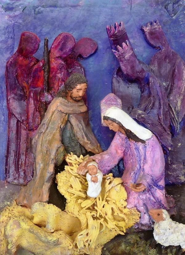 Bas-relief crèche Carmel de Lourdes