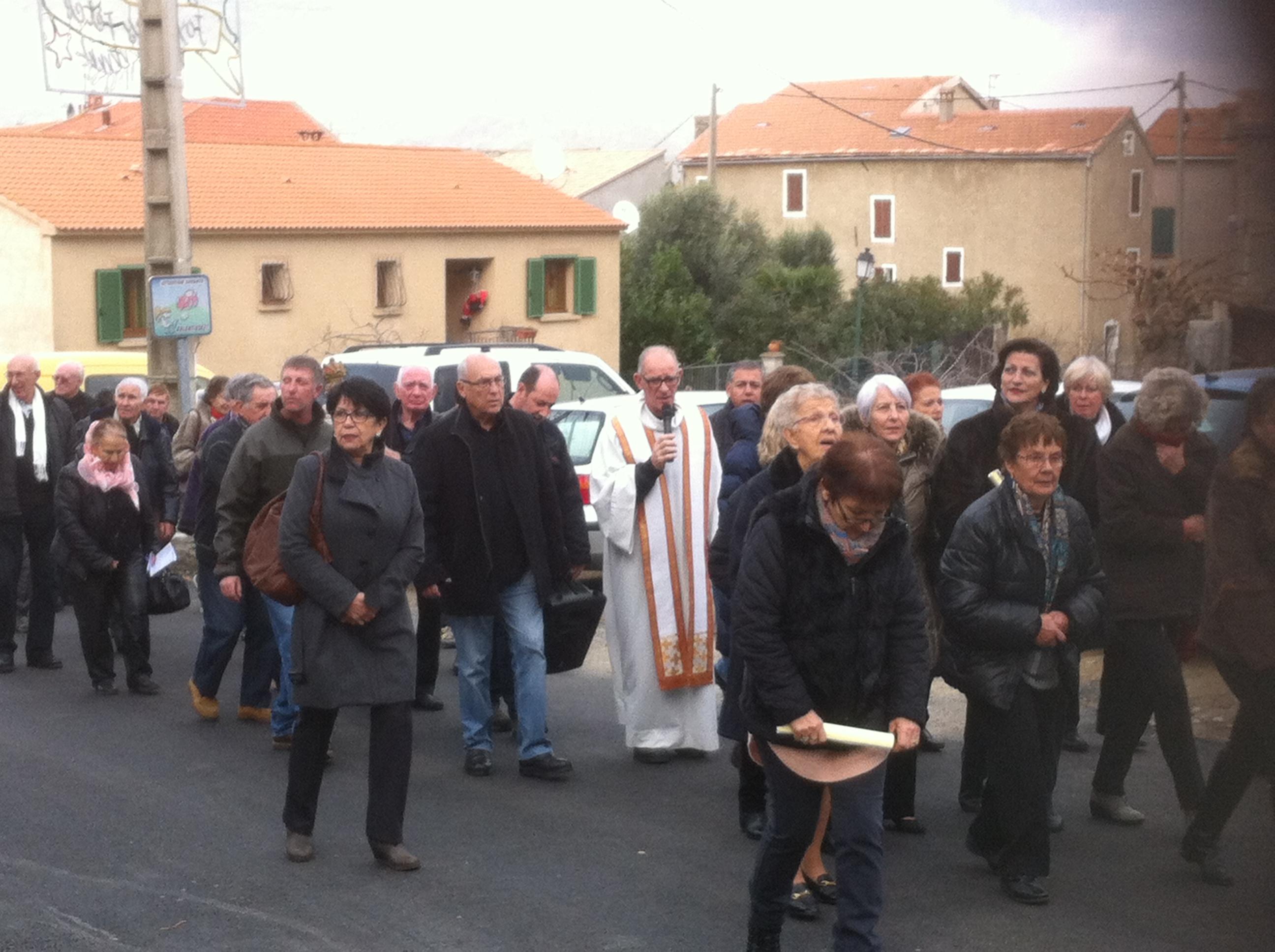 Messe de l'Enfant Jésus et procession à Canaghja